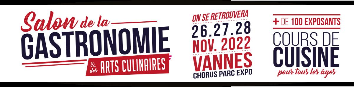Salon de la gastronomie vannes 25 26 27 novembre for Salon de la gastronomie brest 2017